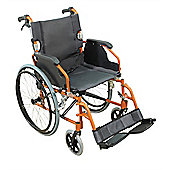 Aidapt Deluxe Lightweight Self Propelled Aluminium Wheelchair in Orange