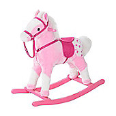 HOMCOM Kids Rocking Horse with Sound Handle (Pink)