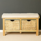 London Oak Hall Bench - Lacquer Finish