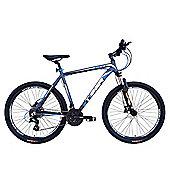 Tiger HDR 27.5 Front Suspension Mountain Bike Matte Grey Blue