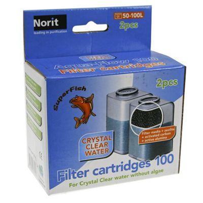 Superfish Aqua Flow 100 Easy Click Cartridge 2 Pack