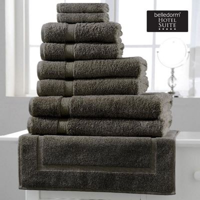 Belledorm Hotel Suite Madison 600 GSM Hand Bath Towel Sheet Grey Slate