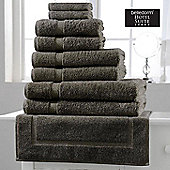 Belledorm Hotel Suite Madison 600 GSM Hand Bath Towel Sheet Grey Slate - Grey