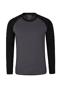 Mountain Warehouse Mens Tshirt with UV Protection UPF30 and IsoCool High Wicking - Black