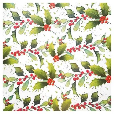 Tesco Foiliage Christmas Wrapping Paper, 4m