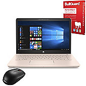 "Certified Refurbished HP 14-bk069sa 14"" Laptop Intel Pentium 4415U 4GB 1TB Windows 10 with Internet Security & Mouse - 2FN67EA#ABU"