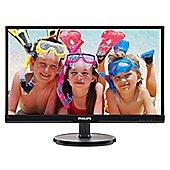 "Philips V-line 226V6QSB6 - LED monitor - 22"" (21.5"" viewable) - 1920 x 1080 - AH-IPS - 250 cd/m² - 1000:1 - 8 ms - DVI-D, VGA - textured black,"