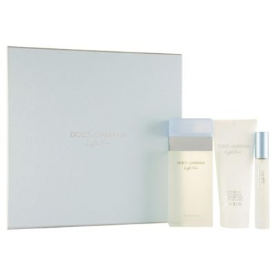 D&G Light Blue 100ml EDT, 100ml Body Lotion & 7.5ml EDT Gift Set