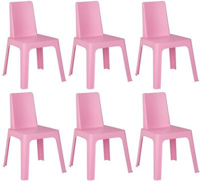 Resol Childrens Indoor / Outdoor Julieta Chair - Pink x 6