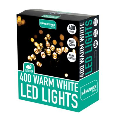 Kingfisher 400 LED Warm White Xmas Christmas Lights