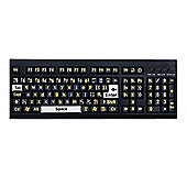 Pelham Large Print Yellow Text Black Keyboard