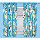 Disney Frozen Olaf Chillin Curtains 66 inch x 72 inch (168cm x 183cm)