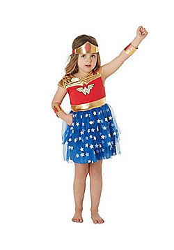 DC Comics Wonder Woman Tutu Fancy Dress Costume - Red