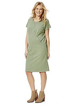 Mamalicious Maternity T-Shirt Dress - Green