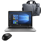 "HP 250 G6 15.6"" Laptop Intel Core i5-7200U 8GB 256GB SSD Win 10 Pro with Mouse & Case"