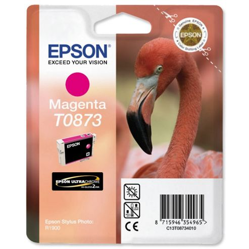 Epson T0873 Magenta Ink Cartridge for Stylus Photo R1900
