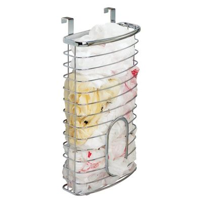 Chrome Over Cabinet Plastic Carrier Bag Storage Holder Dispenser Recycle Bags