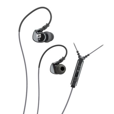 M6P2 Memory Wire In-Ear Earphones with Microphone - Black
