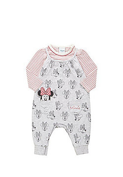 Disney Minnie Mouse Bodysuit and Dungaree Set - Multi