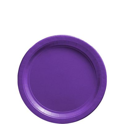 Purple Dessert Plates - 17cm Paper Party Plates - 50 Pack
