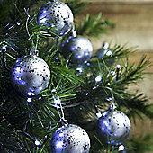 12pcs 6cm Shatterproof Silver Foil Christmas Tree Bauble Decorations