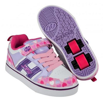 Heelys Bolt Plus Light Pink/Lilac/Hearts Heely Shoe JNR 12