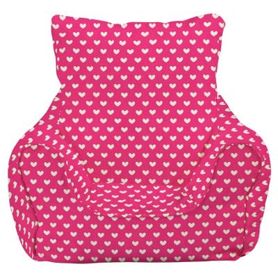 Children's Bean Bag Chair - Pink Hearts