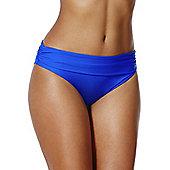 F&F Shaping Swimwear Fold-Over Bikini Briefs - Cobalt