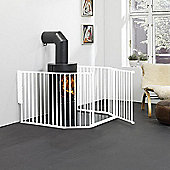 BabyDan Flex Hearth Gate White