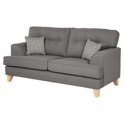 Bargello Medium 2.5 Seater Sofa, Dark Grey