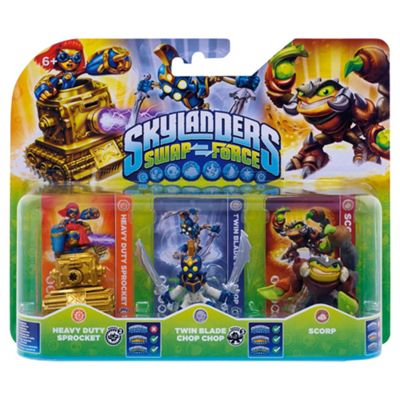 Skylanders Swap Force Triple Pack : Scorp, Chop Chop and Sprocket