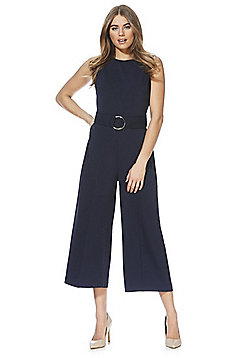 F&F D-Ring Belt Jumpsuit - Navy