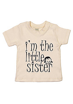 Dirty Fingers I'm the Little Sister Baby T-shirt - Cream