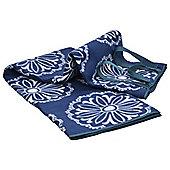 Navy Pattern Picnic Rug