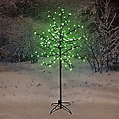 1.8m Cherry Blossom Tree with 180 Green LED Lights
