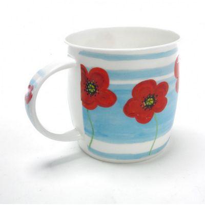 Roy Kirkham Bone China Mug, Poppy Fields Design 2