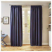 Tesco Canvas Lined Blackout Curtains - - 66 X 54 - Blue