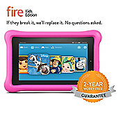 "Amazon Fire 7, 7"" Kids Edition Tablet, 16GB - Pink"
