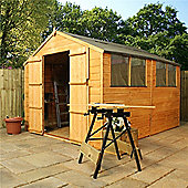 10 x 8 Sutton Tongue & Groove Apex Shed With Double Doors Garden Wooden Shed 10ft x 8ft (3.05m x 2.44m) - Fast Delivery - Pick A Day