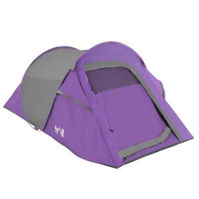 Trail Deluxe DS 2-Man Pop-Up Tent With Porch - Purple & Pop Up Tents | Sports u0026 Leisure - Tesco
