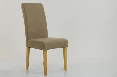 Kensington Dining Chair Oatmeal Linen Fabric