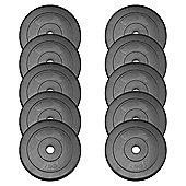 JLL Vinyl Weight Plates - 10 x 2.5kg (25kg)