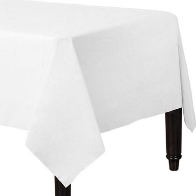 White Plain Tablecover - Paper - 90cm x 90cm - 2 Pack