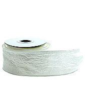 Ribbon Crinkle Taffeta - Wired Edge - 5cm x 10y - Ivory