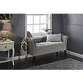 Balmoral Window Seat Silver Chenille