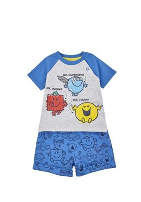 Mr Men T-Shirt and Shorts Set Multi 0-3 months