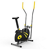 RevXtreme Old Skool 2.0 Cross trainer and Exercise Bike 2 in 1 Yellow
