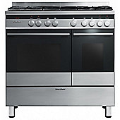 Fisher & Paykel OR90LDBGFX3 | 90cm Dual Fuel Range Cooker, Double Oven 88999