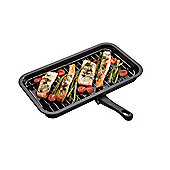 Kitchen Craft KCGRILLPAN Kitchen Craft Non-Stick Enamel Grill Pan with Removable Rack and Handle, Display Boxed