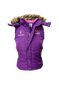 Kukri Ulster Rugby Ladies Fashion Gilet 15/16 - Purple